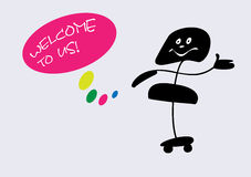 Welcome to us! Royalty Free Stock Photo
