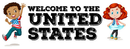 Welcome to US poster Stock Images