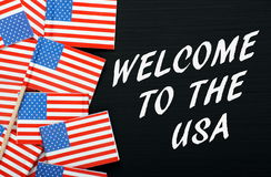 Welcome to the USA Royalty Free Stock Photography