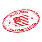 Welcome to USA rubber stamp Royalty Free Stock Image
