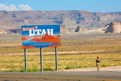 Welcome to Utah billboard Royalty Free Stock Photography