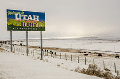 Welcome to Utah Royalty Free Stock Photo
