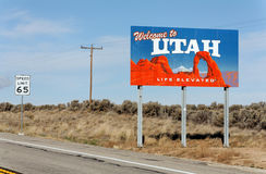 Welcome to Utah Royalty Free Stock Photography