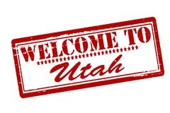Welcome to Utah. Rubber stamps with text welcome to Utah inside,  illustration Royalty Free Stock Image