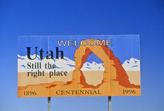 Welcome to Utah Sign Royalty Free Stock Photos