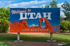 Welcome to Utah sign Royalty Free Stock Images