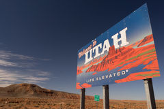 Welcome to Utah Sign Life Elevated USA Royalty Free Stock Photos