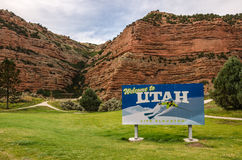 Welcome to Utah Sign Royalty Free Stock Photo