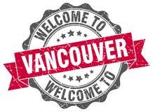 Welcome to Vancouver seal. Welcome to Vancouver round vintage seal Stock Image