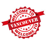 Welcome to Vancouver. Sign seal logo isolated on white background Stock Photography
