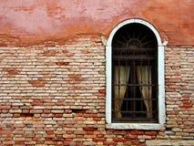 Welcome to Venice. A small taste of architecture in a popular tourist destination. Backyard window in Venice (Venezia) Italy Stock Image