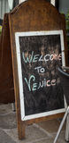 Welcome to Venice Sign Royalty Free Stock Images