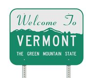 Welcome To Vermont Road Sign Royalty Free Stock Images