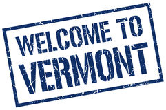 Welcome to Vermont stamp Stock Photo
