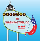 Welcome to Washington DC Royalty Free Stock Image