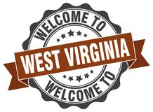 Welcome to West Virginia seal Stock Photo