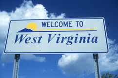 Welcome to West Virginia Sign royalty free stock image