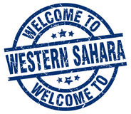 Welcome to Western Sahara stamp Stock Photography