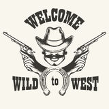 Welcome to Wild West Emblem Stock Photos