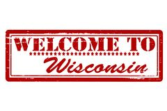 Welcome to Wisconsin. Rubber stamps with text welcome to Wisconsin inside, illustration stock illustration