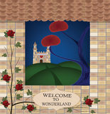 Welcome to wonderland. Wonderland series - welcome to wonderland Stock Images
