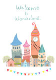 Welcome to wonderland vector illustration Stock Images