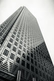 skyscraper high sky black white Royalty Free Stock Image