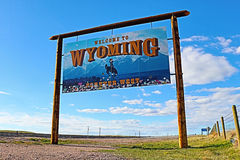 Welcome to Wyoming - Forever West Royalty Free Stock Images