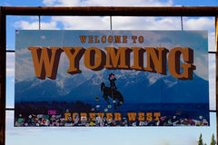 Welcome to Wyoming - Forever West Stock Images