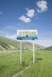 Welcome to Wyoming road sign Stock Photos
