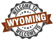 Welcome to Wyoming seal Stock Photos