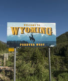 Welcome To Wyoming Sign Royalty Free Stock Images