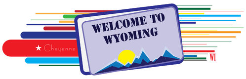 Welcome to Wyoming Royalty Free Stock Image