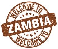 welcome to Zambia stamp Royalty Free Stock Images
