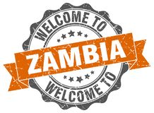 Welcome to Zambia seal Stock Image