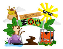 Welcome To The Zoo Stock Images