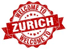 Welcome to Zurich seal Royalty Free Stock Image