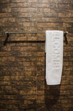 Welcome towel in bathroom Royalty Free Stock Image