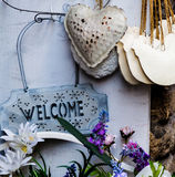 Welcome in Tuscany stock photo