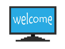 Welcome on TV screen Royalty Free Stock Photo