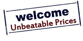 Welcome unbeatable price Stock Photos