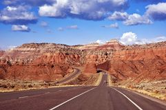 Welcome in Utah. U.S.A. Utah Highway I-70. Utah Badrocks Landscape Stock Photos