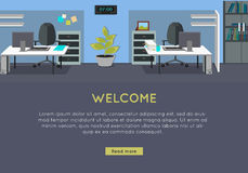Welcome Vector Concept in Flat Style Design Royalty Free Stock Images