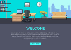 Welcome Vector Concept in Flat Style Design Stock Image