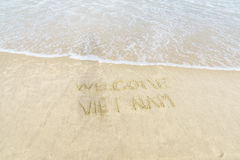 Welcome Vietnam Beach Royalty Free Stock Image