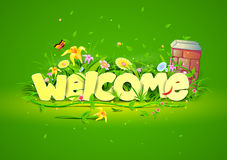 Welcome wallpaper background Royalty Free Stock Photography