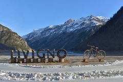 Welcome. Sign in Livigno, Italy Royalty Free Stock Photo