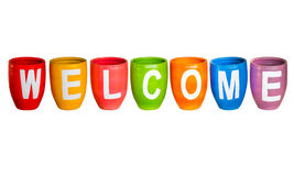 Welcome on white isolate. Stock Photography