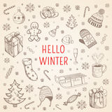 Welcome winter background. Royalty Free Stock Image