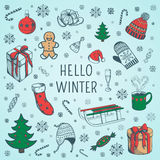 Welcome winter background. Stock Photo